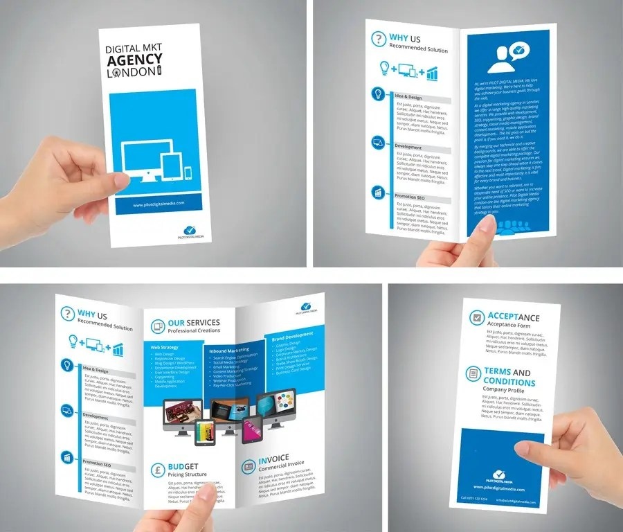 digital brochures - Romeolandinez - marketing brochure