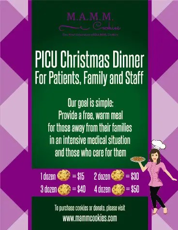 Entry #3 by darijabegic for MAMM Cookie Fundraiser Flyer for ICU - christmas luncheon flyer