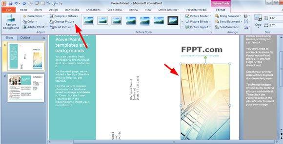 powerpoint brochure templates free xv-gimnazija