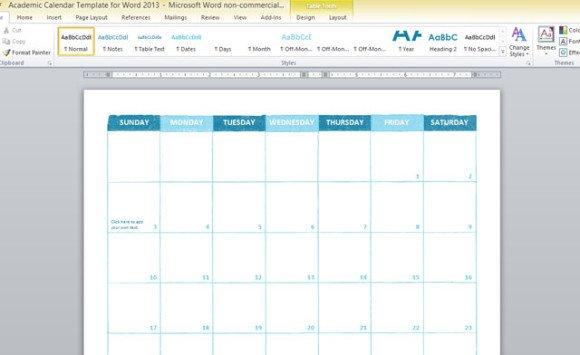 school schedule calendar template