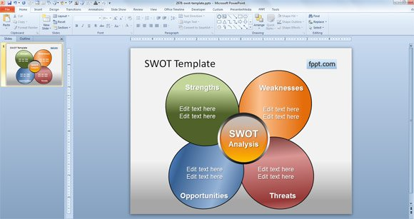 Download Free Colorful SWOT PowerPoint Slides Templates