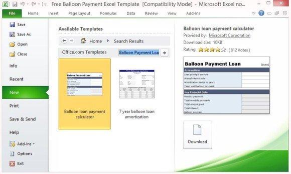 Installment Loan Calculator Balloon Payment  100u2014Bad Credit - mortgage payment calculator template