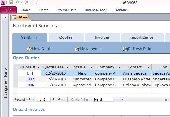 Download Access Simple Invoice Template | rabitah.net