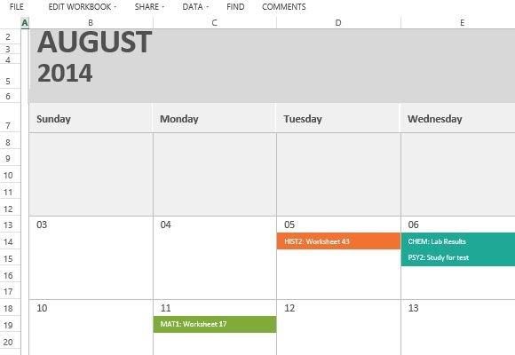 homework calendar printable - Towerssconstruction