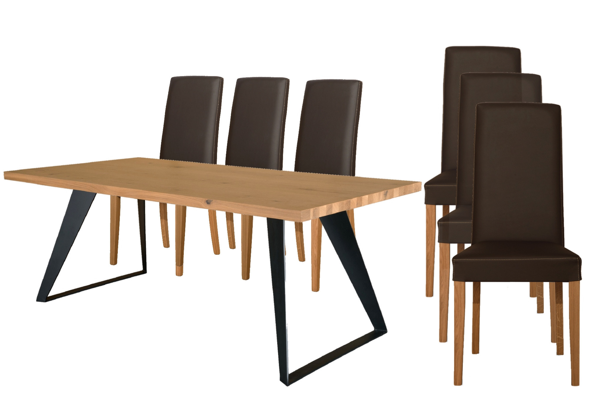 6 Chaises Ensemble Table Rectangulaire Filigram 6 Chaises Nancy Hellin