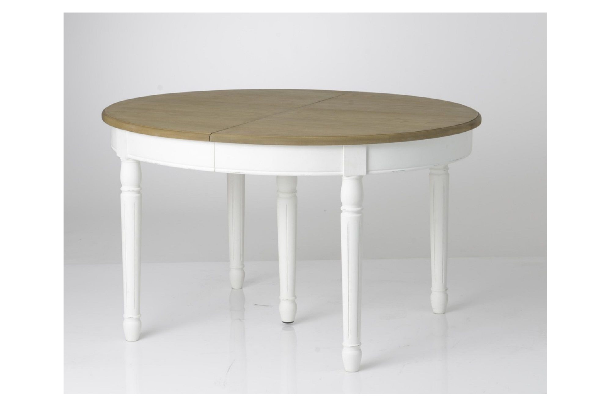 Table Ronde Blanche Et Bois Table Ronde Extensible Efter Hellin