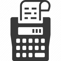 Calculator, receipt, tax calculator, tax machine icon