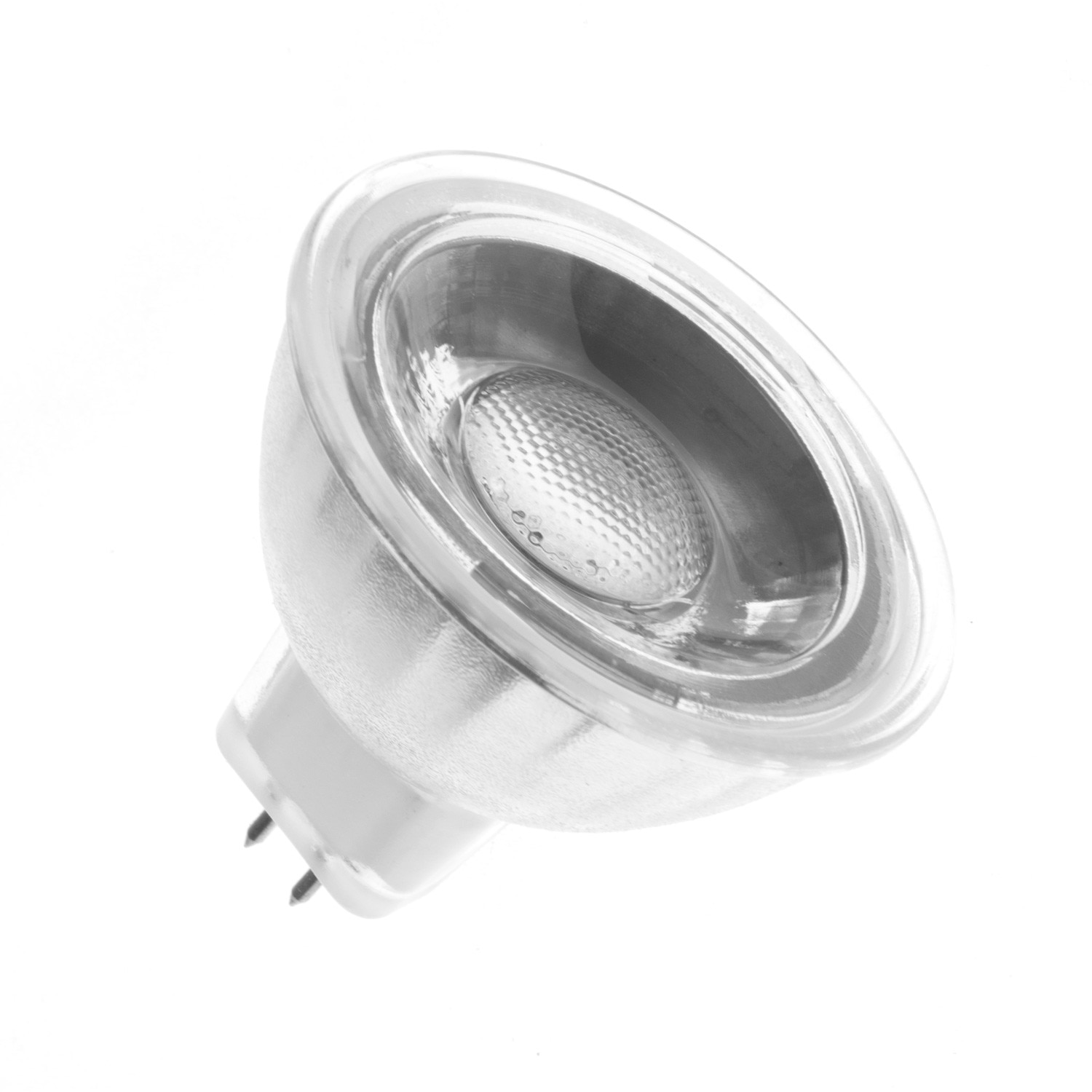 ??led Glass Gu5 3 Mr16 45º 5w Cob Led Lamp 220v Ledkia