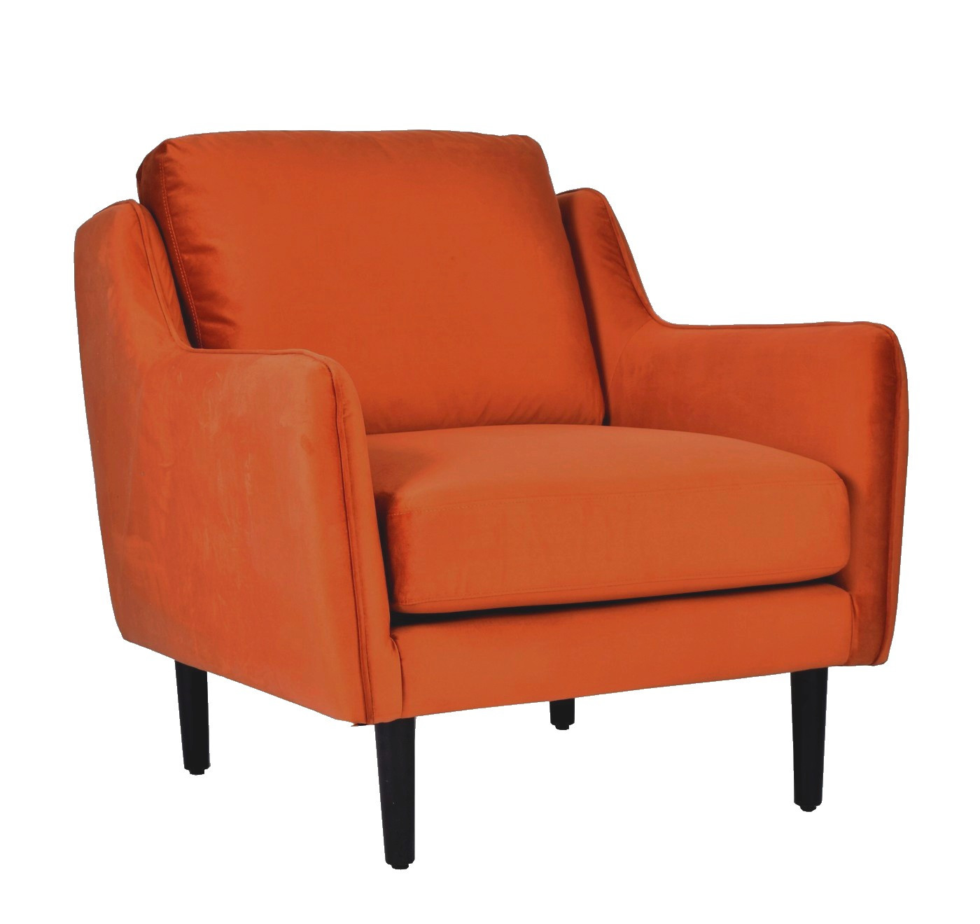 Fauteuil Soft Velours Orange