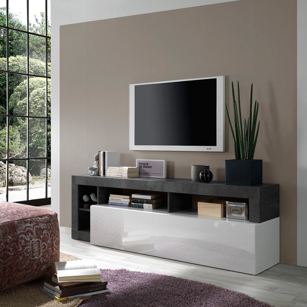 Meuble TV design BURGA 184 cm - proposé en 2 finitions - Meubles Thiry