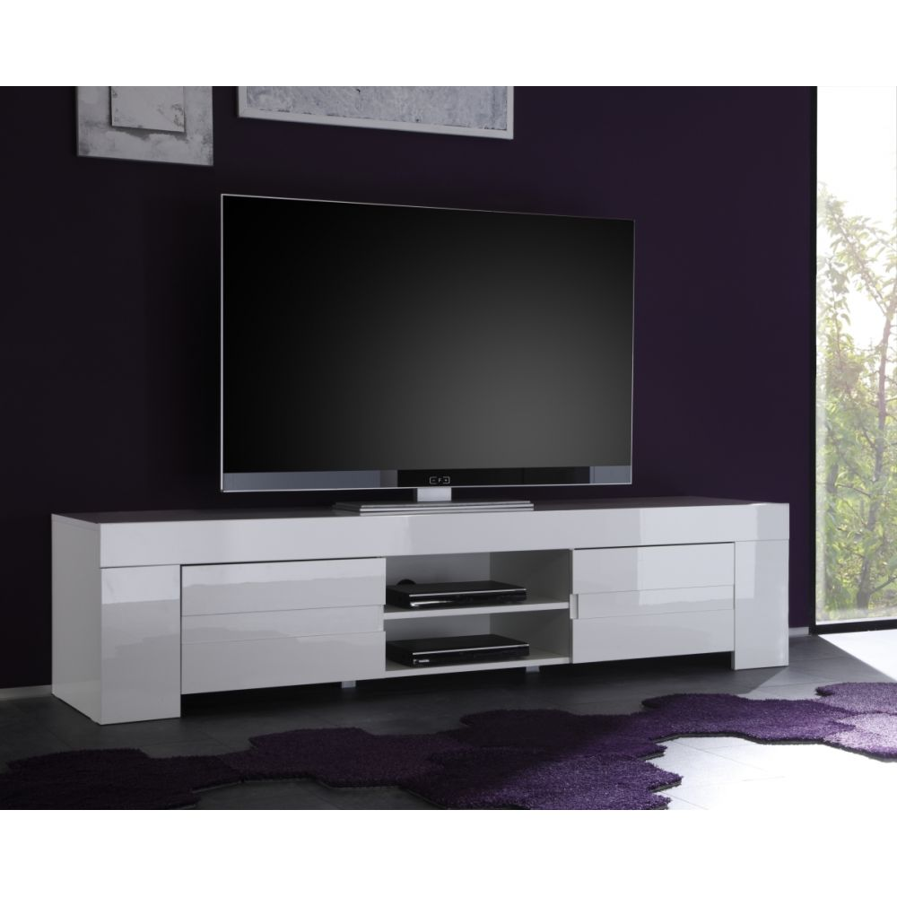 Meuble Hifi Tv Design Meuble Tv Hifi Vidéo Design Laila 2 Portes 2 Niches Meubles Thiry