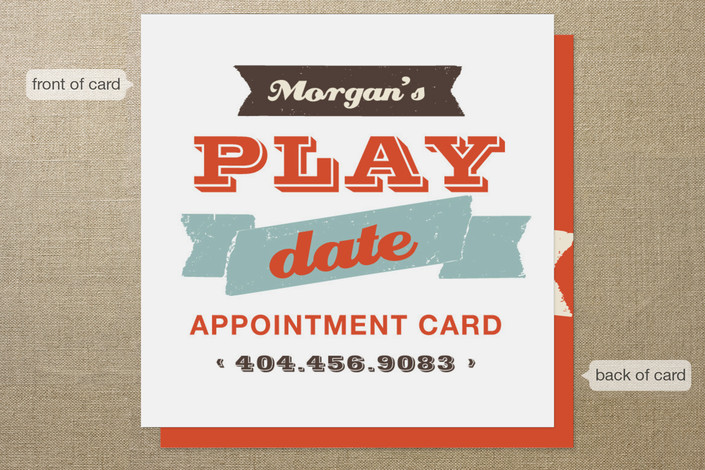 Let\u0027s Play Appointment Card Business Cards by chic Minted