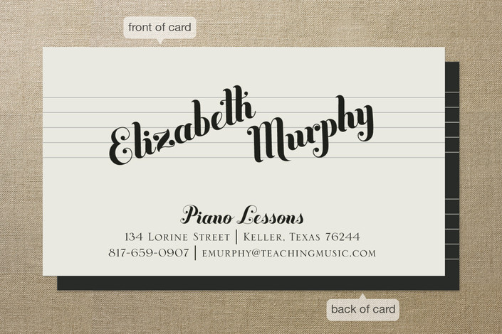 Piano Lessons Business Cards by Ann Gardner Minted
