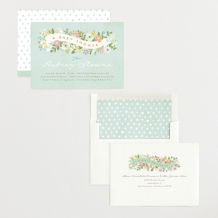 Rites Of Spring Baby Shower Invitations by Jennifer Wick Minted
