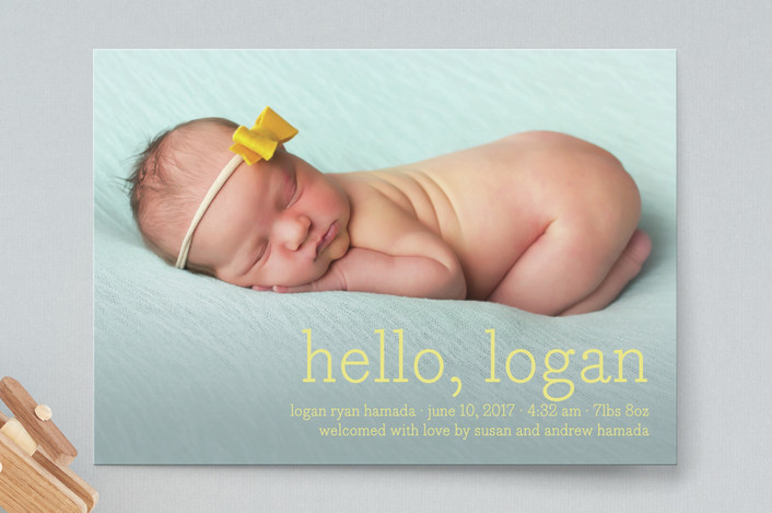 Hello Baby Birth Announcements by annie clark Minted