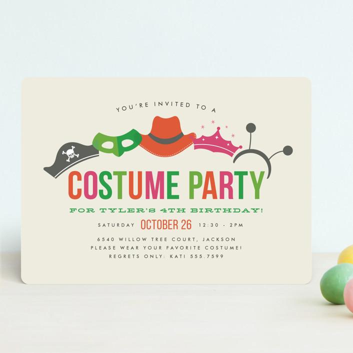 Costume Party Children\u0027s Birthday Party Invitation Minted