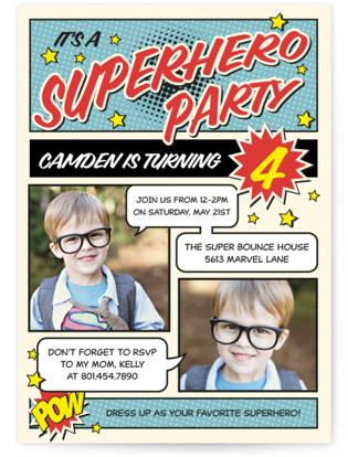 Superhero Kids Birthday Invitations Minted