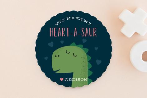 Heart-A-Saur Classroom Valentine's Cards