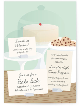 School Bakesale Professional Event Online Invitations