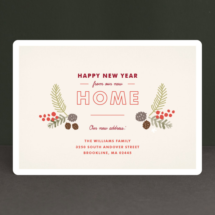 home for the holidays holiday cards by jennifer wick minted new year new home card