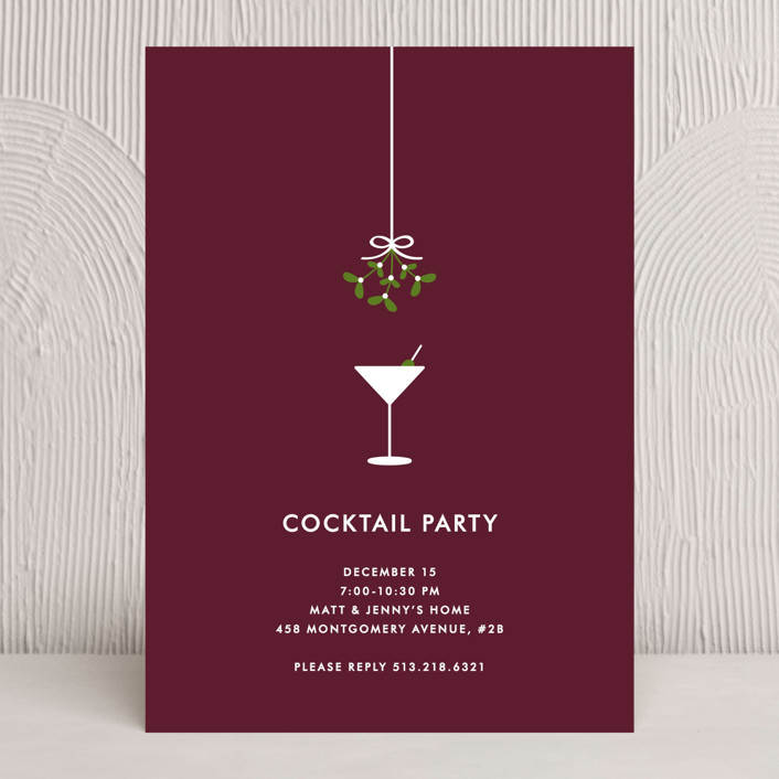 Cocktail Party Holiday Party Invitations by Kim Dietrich Elam Minted