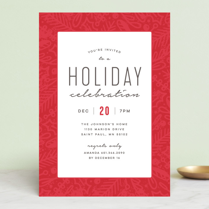 Winter Celebration Holiday Party Invitations by Michelle Taylor Minted