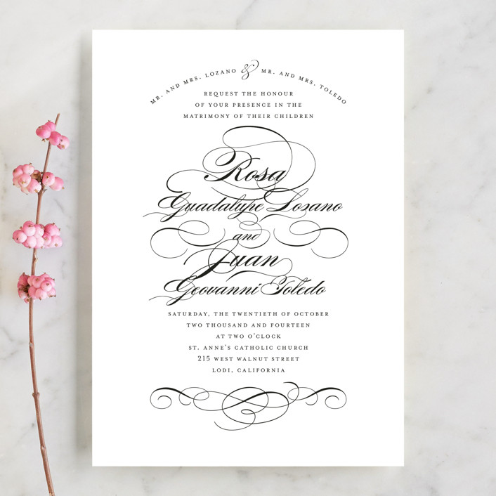 Formal Ink Wedding Invitations by Jill Means Minted - Formal Invitation