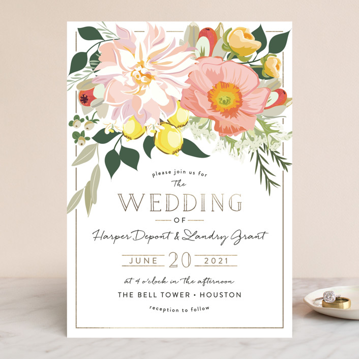 Spring Blooms Wedding Invitations by Susan Moyal Minted