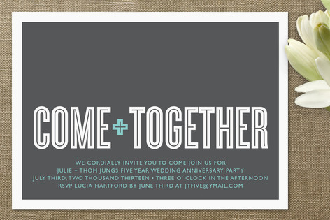 Come Together Anniversary Party Invitations by Wau Minted - invitation for a get together