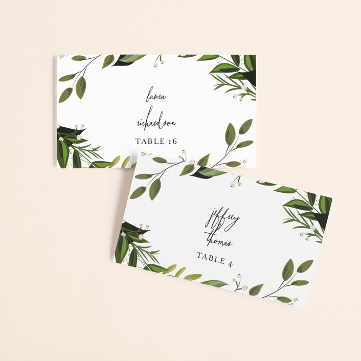 Vines of Green Wedding Place Cards by Susan Moyal Minted