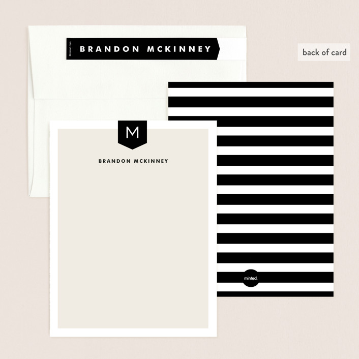 Subtle Banner Personalized Stationery By Alethea And Ruth
