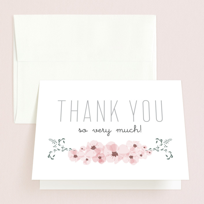 Lovely Day Bridal Shower Thank You Cards by Yeah Papers Minted