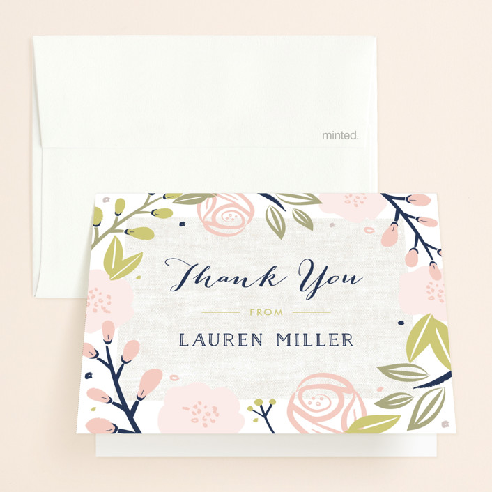 Spring Shower Bridal Shower Thank You Cards by Carolyn MacLaren Minted