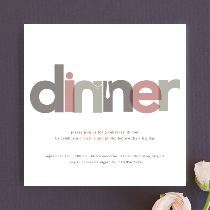 Dinner Party Rehearsal Dinner Invitations by Jody Wody Minted