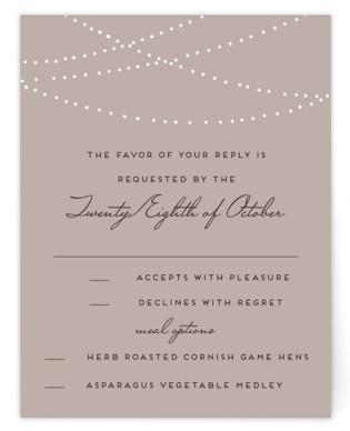 Lavish RSVP Postcards - wedding response postcards