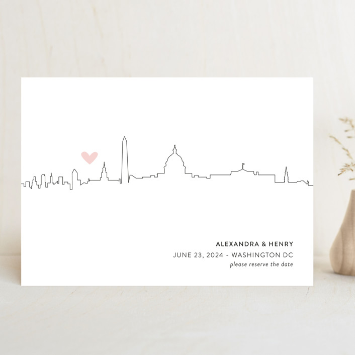 Love in the City - Washington DC Save The Date Cards by Erin Deegan