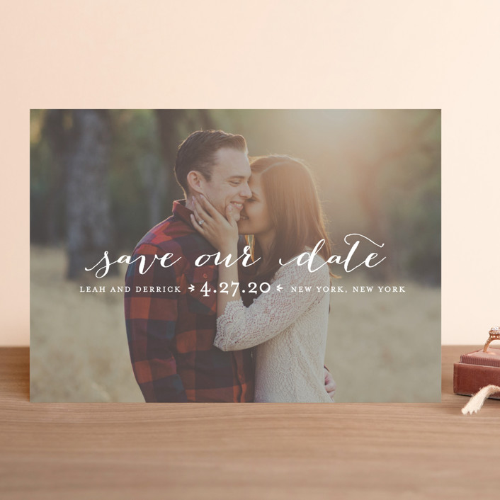 Meet in the Middle Save The Date Cards by Lauren Chism Minted - engagement invitation matter