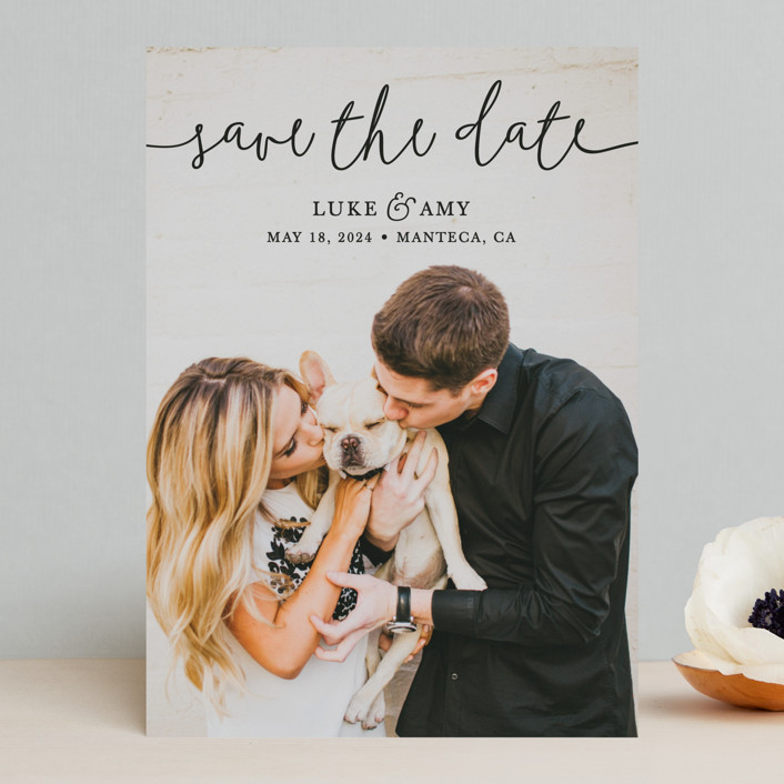 Pretty Love Save The Date Cards by Christine Taylor Minted