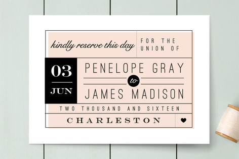 Kindly Reserve Save The Date Cards by Lori Wemple Minted