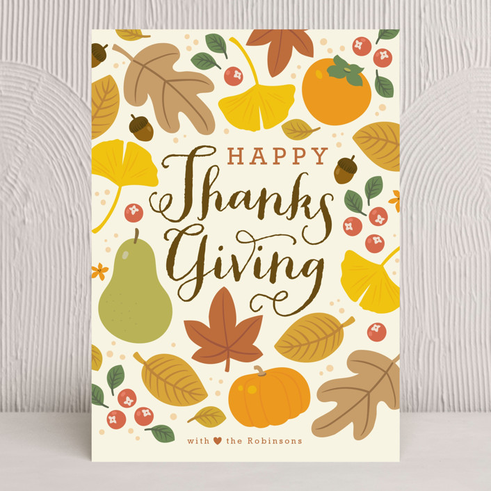 Autumn Leaves Thanksgiving Cards by Four Wet Feet Studio Minted