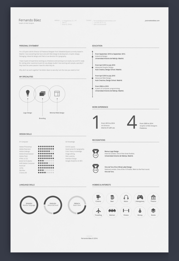 resume templates aesthetic