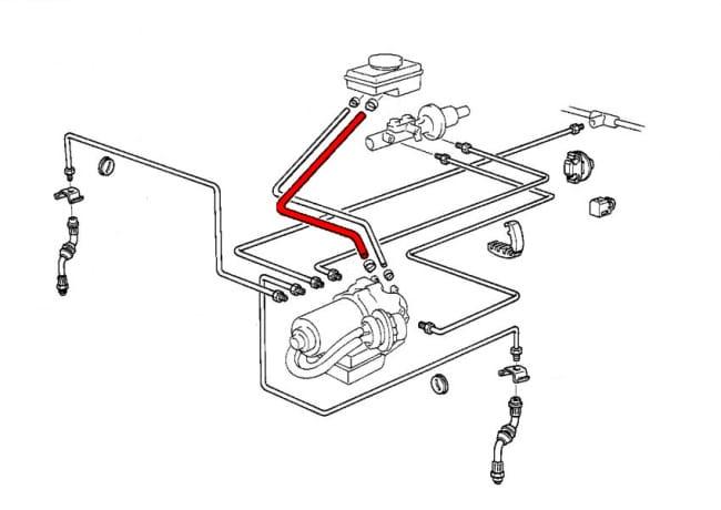 Brake Hose 34321160265 - Genuine BMW - 34-32-1-160-265 Pelican Parts