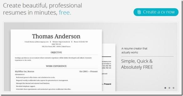 free online curriculum vitae creator - Resume Creator Free Online