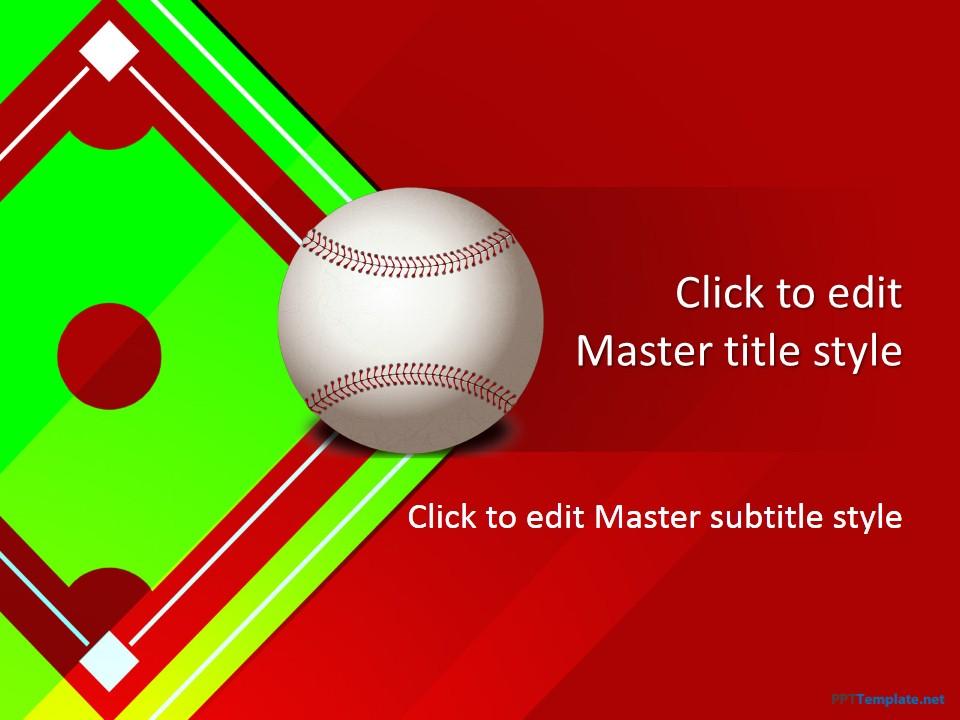 baseball powerpoint template - Teacheng - baseball field template