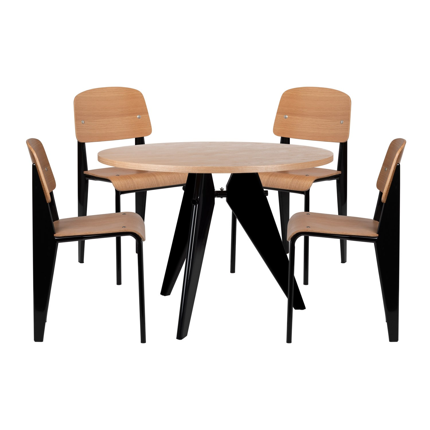 Chaises De Table Lot De 4 Chaises And 1 Table And