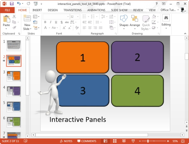 Powerpoint Interactive Templates Create Interactive Powerpoint - interactive powerpoint template