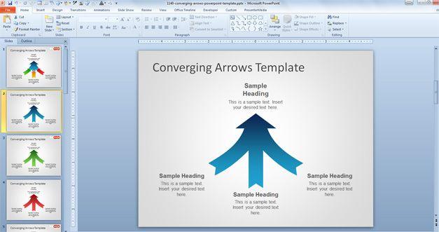 free arrow powerpoint template