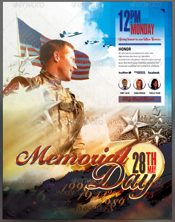 memorial day flyer template - Selol-ink