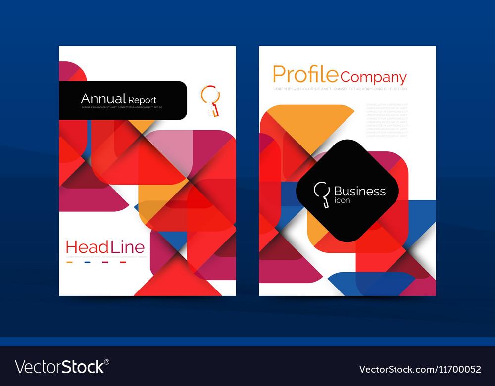 Business company profile brochure template Vector Image