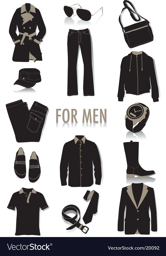 Men\u0027s fashion Royalty Free Vector Image - VectorStock